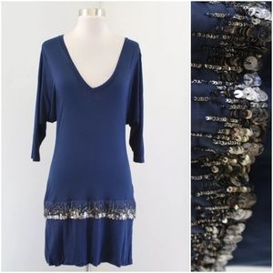 Young Fabulous and Broke Beaded Drop Waist Dress